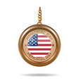 round medallion with inscription - memorial day vector image vector image
