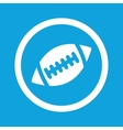 Rugby sign icon vector image vector image