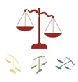Scales of Justice set Isometric effect vector image