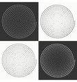 Set of circles dots vector image vector image