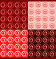 set of four seamless red pattern vector image