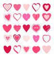 set valentine heart icons vector image vector image