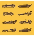 Sport race car black icons vector image vector image