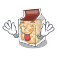 tongue out pork rinds in character plastic vector image vector image