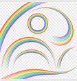 transparent rainbows vector image vector image