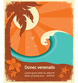 Tropical paradise retro poster for text vector image vector image