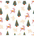 winter holidays seamless repeat pattern vector image vector image