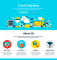 cloud computing web design vector image
