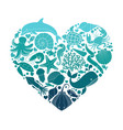 a sea or ocean underwater life with different vector image vector image