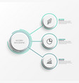 abstract elements graph infographic template