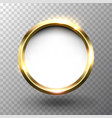 abstract shiny golden circle frame with space for vector image vector image