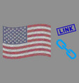 american flag stylized composition chain and vector image vector image