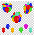 balloons isolated on transparent background vector image vector image