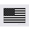 Black and White American Flag Icon