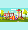 bright playground for children at park vector image