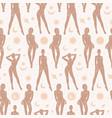 celestial feminine magic astrology seamless vector image