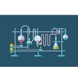 Chemical Laboratory Equipment Objects with a vector image vector image