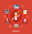 chemical scientist inventor vector image vector image