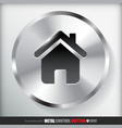 Circle Metal Home Button vector image vector image