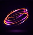 circular lens flare vector image vector image