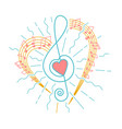 concept of musical representation vector image vector image