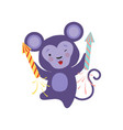 cute monkey with a party popper lovely cartoon vector image vector image