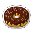 delicious donut bakery product vector image