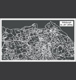 edinburgh scotland city map in retro style vector image vector image