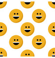 emoji samless pattern vector image