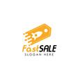 fast shop logo design template fast sale icon vector image vector image