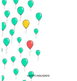 Festive card with balloons Departing spheres vector image