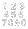 friendly outlined cartoon numbers set vector image