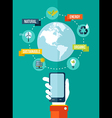 Go green global mobile app concept vector image vector image