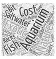Good Deals On a Saltwater Aquarium Word Cloud vector image vector image
