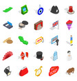 griffin icons set isometric style vector image vector image