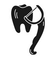 hand dental floss icon simple style vector image