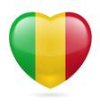 Heart icon of Mali vector image vector image