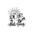hot tacos hand lettering vector image