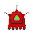 isolated cute robot toy vector image