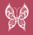 Lacy abstract butterfly vector image