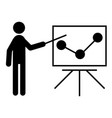 lecturer icon vector image vector image