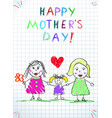 Lgbt family happy mothers day children drawing