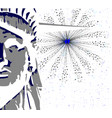 liberty and sky rocket vector image