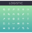 logistic line icons vector image