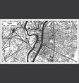 lyon france city map in retro style outline map vector image vector image
