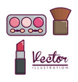 makeup and cosmetics design vector image vector image
