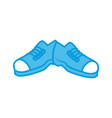 male shoes footwear vector image vector image