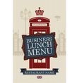 menu for business lunches vector image