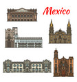mexican travel landmark icon for tourism design vector image vector image