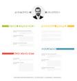 minimalist cv resume template vector image vector image